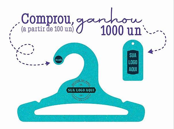 Promoção Comprou Ganhou: Cabide Personalizado com sua logo / Infantil Aberto / Color Face / CS101 - Ganhe a Tag Color Face 1000 unidades personalizado
