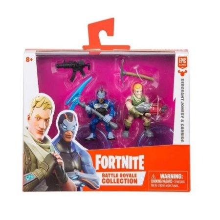 Fortnite Mini Figuras Sergeant Jonesy e Carbide