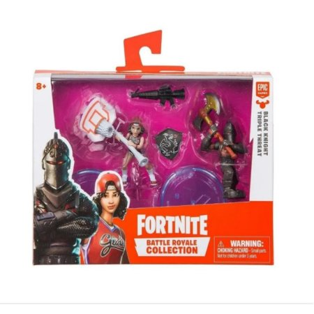 Fortnite Mini Figuras Black Night e Triple Threat