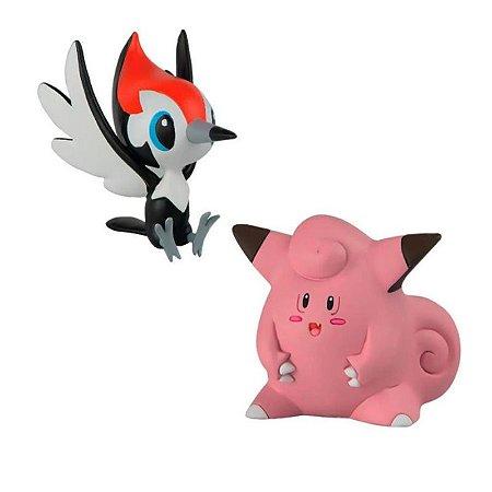 Pokémon - 2 mini figuras - Pikipek e Clefairy