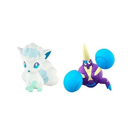 Pokémon - 2 mini figuras - Alolan Vulpix e Cabrawler