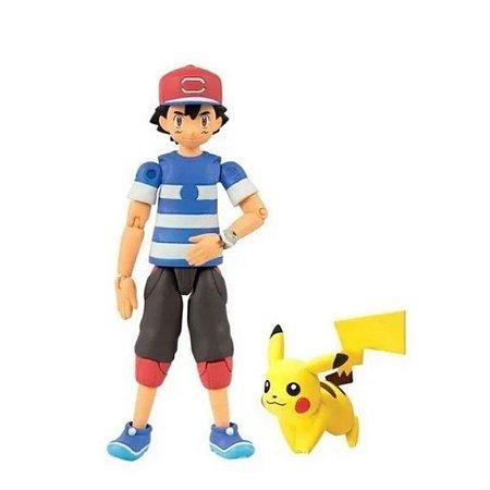 Pokémon-Figure Action+Pikachu-Articulada-Ash