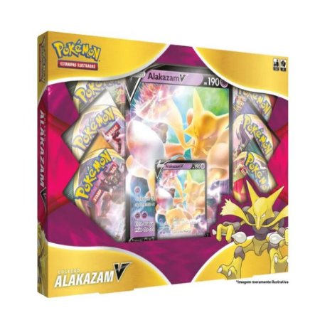 Box Pokémon Coleção Alakazam V
