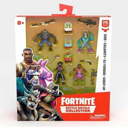 Fortnite Mini Figuras Dire, Calamity e DJ Yonder, Giddy-Up