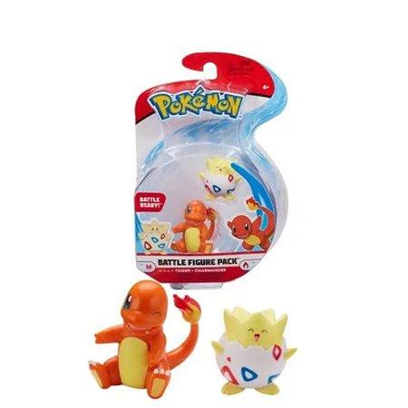 Pokémon - 2 Mini Figura - Togepi e Charmander