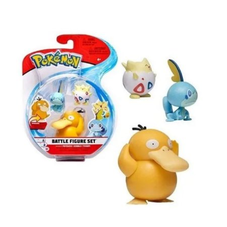Pokémon - 3 mini figuras - Psyduck, Sobble e Togepi