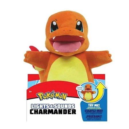 Pokémon Charmander 30 cm - Pelúcia colecionável Luz e Som