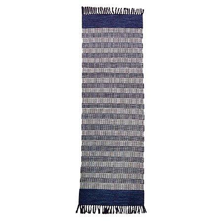 Passadeira Mallani 100% Algodão Azul 60cmx180cm
