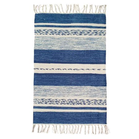 Tapete Raipur 100% Algodão Azul 2mx3m