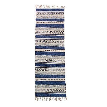 Passadeira Raipur 100% Algodão Azul 60cmx180cm