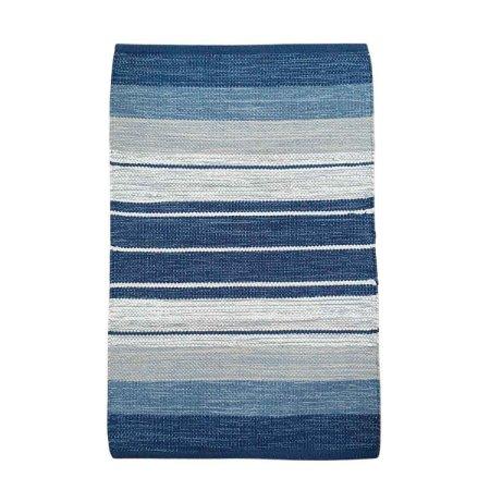 Tapete Kilim Basar 100% Algodão Azul 60cmx90cm
