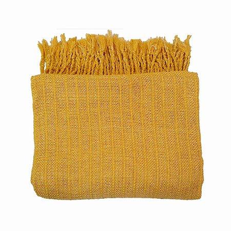 Manta Sther 100% Algodão Amarela 1.20mx1.80m