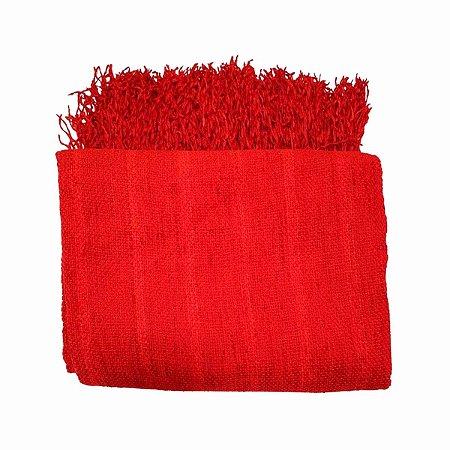 Manta Lorena 100% Algodão Vermelha 1.20mx1.80m