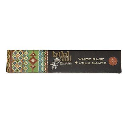 Incenso Tribal Soul Palo Santo + Sálvia Branca