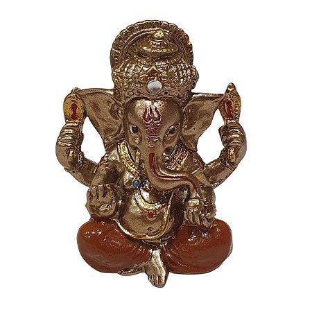 Mini Ganesha de Resina Telha 5cm