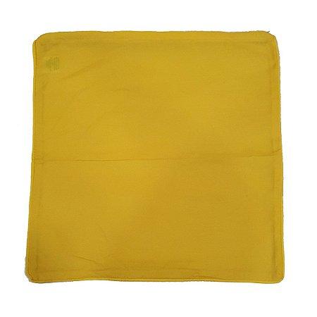 Capa de Almofada de Algodão Lisa Amarela 45x45cm