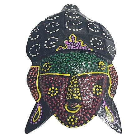 Imã Pintura Dots de Madeira Balsa Cabeça de Buda