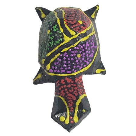 Imã Pintura Dots de Madeira Balsa Tartaruga Terrestre