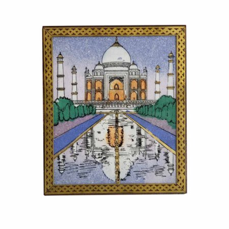 Caixa Decorativa Madeira Pintada Taj Mahal 13cm
