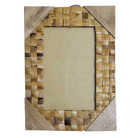Porta Retrato Trançado de Folha de Bananeira - 20x25cm