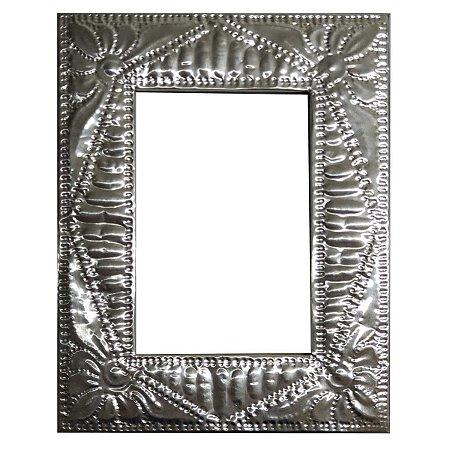 Porta Retrato Folha de Alumínio Lótus - 13x18cm