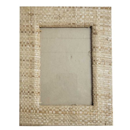 Porta Retrato Palha Natural Bege - 13x18cm