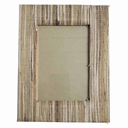 Porta Retrato de Fibra Natural Tons Marrom - 13x18cm