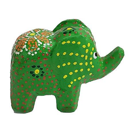 Elefante Madeira Balsa Verde 5cm