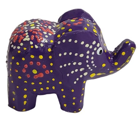 Elefante Madeira Balsa Roxo 5cm