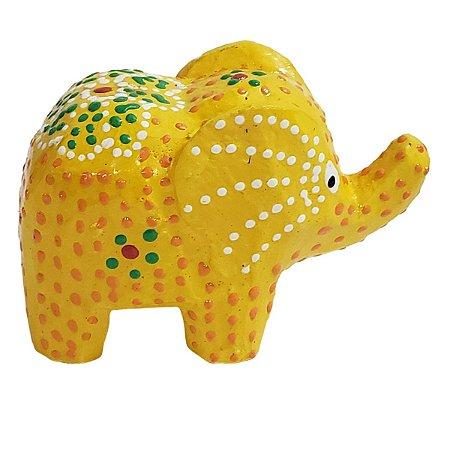 Elefante Madeira Balsa Amarelo 5cm