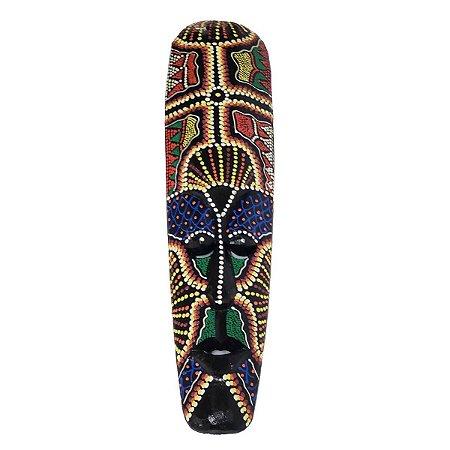 Máscara Pintura Aborígene Dots Tegalalang Balsa Fina 50cm