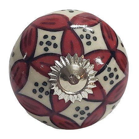 Puxador Cerâmica Indiano Modelo 56