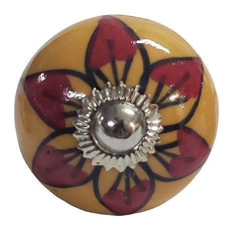 Puxador Cerâmica Indiano Modelo 65