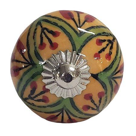 Puxador Cerâmica Indiano Modelo 74