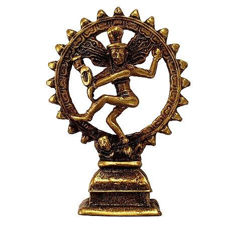 Miniatura Shiva Nataraja na Roda de Fogo 7cm