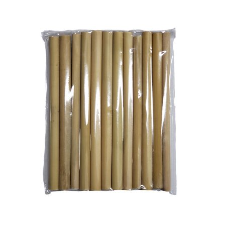 Canudo de Bambu Pacote 12un - 15cm
