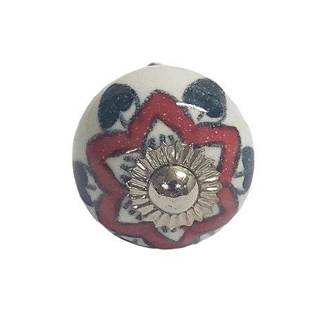 Puxador Cerâmica Indiano Pequeno (Modelo 12)