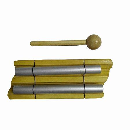 Sino Pin Meditação 2 Notas de Madeira 14.5cm