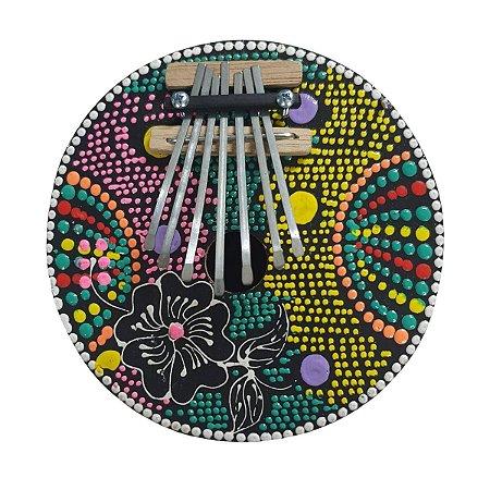 Kalimba Dots Flor Coco com Metal (CORES VARIADAS)