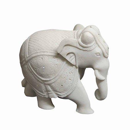 Elefante Indiano Pó de Mármore 13cm