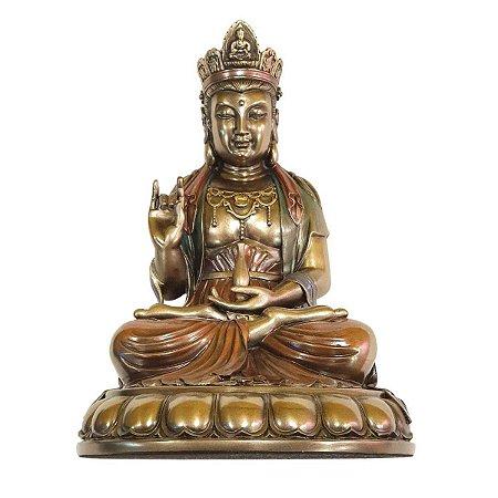 Deusa Kuan Yin de Resina 20 cm