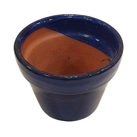 Vaso de Cerâmica Azul 10cm