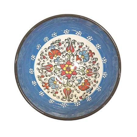Bowl Turco Pintado de Cerâmica (Modelo 1) 16cm