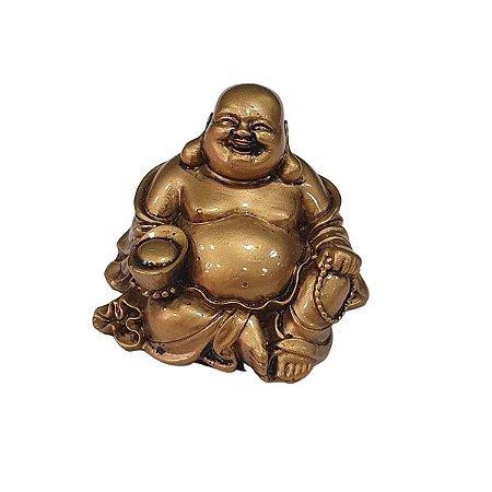 Buda Hotei de Resina Sentado (Modelo 4)