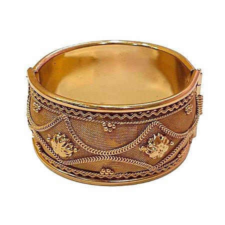 Pulseira Indiana em Metal Dourada (Modelo 7)