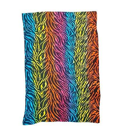 Canga de Praia 100% Viscose - Zebra Colorida 1,60mx1,10m