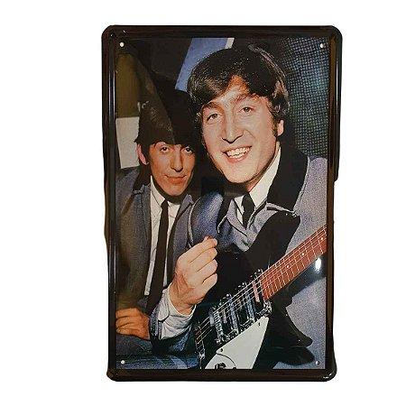 Placa Decorativa de Metal Beatles 20cmx30cm