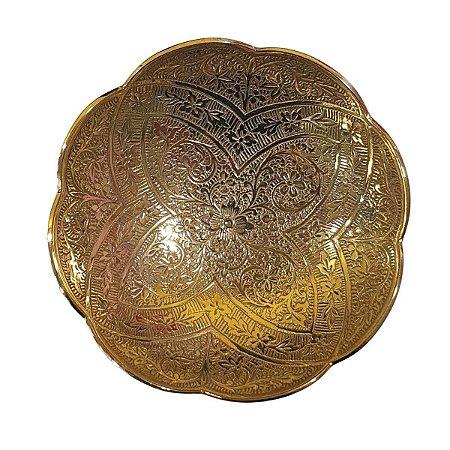 Centro de Mesa de Metal Dourado Redondo 15cm