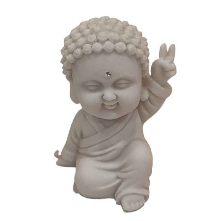 Estátua Budinha de Pó de Mármore (Modelo 6)