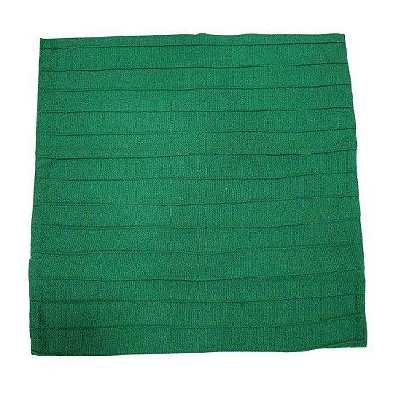 Capa de Almofada de Algodão Lisa Drapeada Verde Bandeira 45cmx45cm